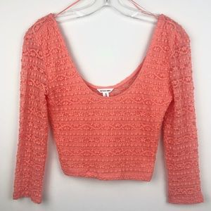 Bethany Mota Coral Crop Top